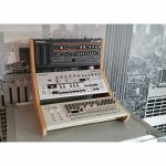 Synths & Wood Oak Veneered End Cheeks Triple Stand For Roland Boutique Series Synthesiser