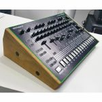 Synths & Wood Solid Oak End Cheeks Stand For Roland TR8 Or MX1