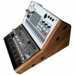 Synths & Wood Solid Oak End Cheeks Dual Stand For Korg Volca Series