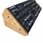 Synths & Wood Solid Oak End Cheeks Stand For Access Virus TI Synthesiser