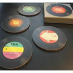 Magpie Era Lacquer Coated Record Coasters (set of 4)