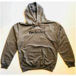 Technics Hooded Sweatshirt (charcoal grey with black embroidered logo, medium)