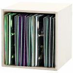 Glorious 12 Inch LP Vinyl Record Storage Box 110 (white) (B-STOCK)