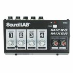 Sound LAB 4 Channel Mono Microphone Mixer With Effects (B-STOCK)