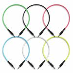 Boredbrain 3.5mm TS Male Mono 12 Inch Patch Cables (mixed colours, pack of 6)