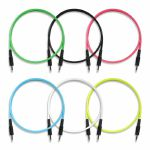 Boredbrain 3.5mm TS Male Mono 24 Inch Patch Cables (mixed colours, pack of 6)