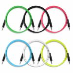 Boredbrain 3.5mm TS Male Mono 36 Inch Patch Cables (mixed colours, pack of 6)