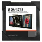 Show & Listen Vinyl Record Display Frame (black) (B-STOCK)