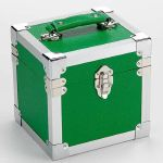 Steepletone 7 Inch Vinyl Record & CD Storage Carry Case (green)