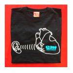 Em Records T Shirt (black with white & turquoise logo, medium)