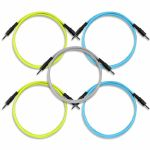 Boredbrain Transmutron 48 Inch 3.5mm TS Cables (yellow/blue/grey, pack of 5)