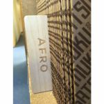 "Mukatsuku Laser Etched Wooden 12"" Vinyl Record Divider (wooden divider with Afro name) *Juno Exclusive*"