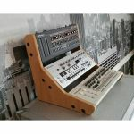 Synths & Wood Oak Veneer End Cheeks Stand For Triple Roland Boutique (B-STOCK)