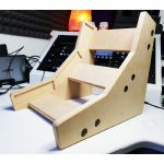 Synths & Wood Plain MDF Precision Recessed End Cheeks Dual Stand For Korg Volca Series Synthesiser & Korg SQ1 Sequencer