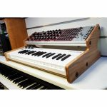 Synths & Wood Solid Oak End Cheeks Stand For Arturia Keystep Controller (comes with 96HP Eurorack rails)