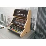 Synths & Wood Plain MDF Recessed End Cheeks Triple Stand For Roland Boutique Series Synthesiser