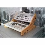 Synths & Wood Solid Oak End Cheeks Dual Stand Mk2 For Roland Boutique Series