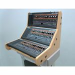 Synths & Wood Plain MDF End Cheeks Triple Stand For Roland Boutique Series
