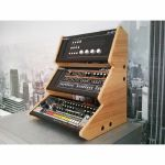 Synths & Wood Oak Veneered Recessed End Cheeks Triple Stand For Roland Boutique Series Synthesiser