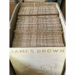 """Mukatsuku Laser Etched Wooden 7"""" Vinyl Record Divider (wooden divider with James Brown name) *Juno Exclusive*"""