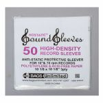 "Bags Unlimited Nostatic 10"" High Density Polyethylene & Acid Free Paper Sleeves (pack of 50)"