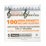 "Bags Unlimited Nostatic 12"" High Density Polyethylene Plastic Vinyl Sleeves (pack of 100)"