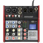 Citronic CSM4 Mixer With USB & Bluetooth Player