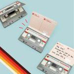 Suck UK Send A Sound Cassette Tape Shaped Recordable Greeting Card