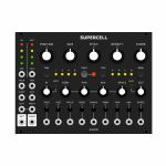 Grayscale Supercell Granular Synthesis Module (black panel version, an expanded version of Clouds by Mutable Instruments)