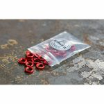 Befaco Bananuts Anodised Aluminium Custom Minijack Nuts (red, pack of 25)