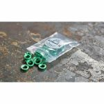 Befaco Bananuts Anodised Aluminium Custom Minijack Nuts (green, pack of 25)