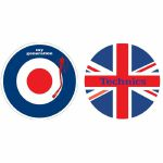 "DMC 12"" Mod My Generation Union Jack Slipmats (pair)"