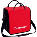 Technics Backpack 12 Inch LP Vinyl Record Bag (red with white logo, holds up to 45 records)