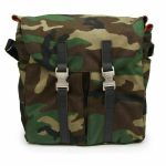 "Tucker & Bloom North To South 12"" Vinyl Messenger Bag With Leather Trim (camo with tan interior)"