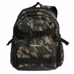 DMC Technics Old School Board Pack Vinyl Record DJ Backpack 25 (camo with silver embroidered logo)