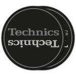 "DMC Technics Two Tone Grey Logo 12"" DJ Turntable Slipmats (pair)"