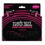 Ernie Ball Flat Ribbon Patch Cables Pedal Board Pack (includes 2 x 24 inch, 2 x 12 inch, 4 x 6 inch & 2 x 3 inch cables)