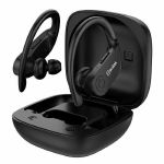 AV Link Ear Shots Active Splashproof True Wireless Sports Earphones & Charging Case (black)