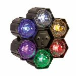 FX LAB 6-Way LED Crystal Pod Light With Built In Sound To Light Control