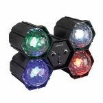FX LAB 4-Way LED Crystal Pod Light With Built In Sound To Light Control