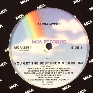 MYERS, Alicia - You Get The Best From Me
