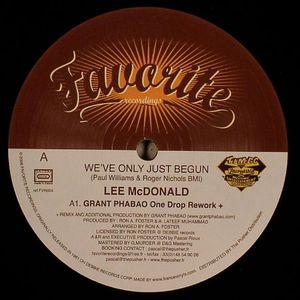 McDONALD, Lee - We've Only Just Begun