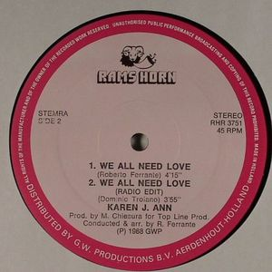 ANN, Karen J - We All Need Love