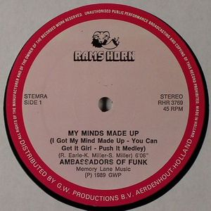 AMBASSADORS OF FUNK/AURRA - My Minds Made Up