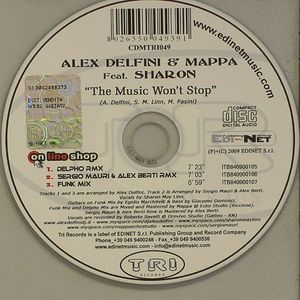 DELFINI, Ailex/MAPPA feat SHARON - The Music Won't Stop