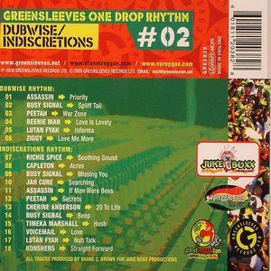 VARIOUS - Dubwise/Indiscretions: Greensleeves One Drop Rhythms 2