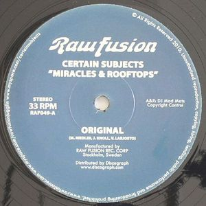 CERTAIN SUBJECTS - Miracles & Rooftops