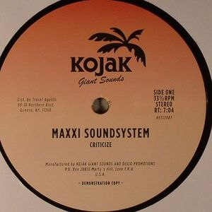 MAXXI SOUNDSYSTEM - Criticize
