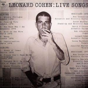 COHEN, Leonard - Live Songs