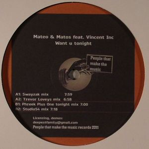 MATEO & MATOS feat VINCENT INC - Want U Tonight